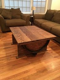 Wine Coffee Table Wine Barrel Coffee Table 7 Steps With Pictures