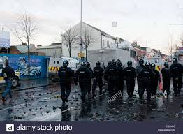 belfast uk 12 01 13 riot charging loyalist youths as stock