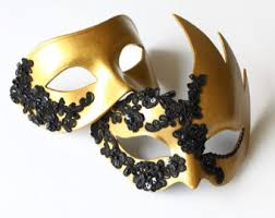 black and gold masquerade masks masquerade mask etsy