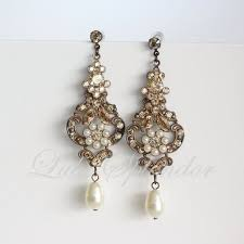 vintage wedding earrings chandeliers 53 vintage pearl chandelier earrings vintage inspired freshwater