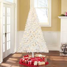 time pre lit 6 5 pine white artificial