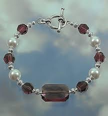 crystal pearl bracelet images Swarovski amethyst crystal with white pearls bracelet crystal jpg