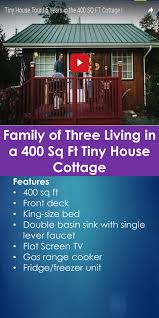 family of three living in a 400 sq ft tiny house cottage tiny