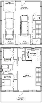 apartment garage floor plans two car garage with one bay enough for an auto lift this