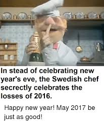 Swedish Chef Meme - in stead of celebrating new year s eve the swedish chef secrectly