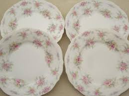 vintage china with pink roses antique german china plates vintage pink roses dessert plates set
