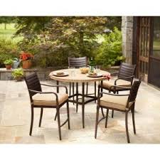 Patio High Dining Set Hton Bay 5 Patio High Dining Set With Textured