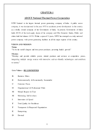 Job Description On Resume Report Ntpc