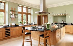 ilot de cuisine en bois cuisine contemporaine en plaqué bois avec îlot mandarin