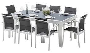 salon jardin 8 personnes salon de jardin blanc et gris 8 personnes table extensible