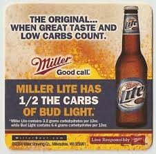 how many carbs in bud light beer 16 miller lite check out your 6 pack 1 2 the carbs of bud light beer
