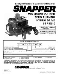 owners manual for kohler 27 hp engine snapper zmt2500kh 1 user manual 36 pages also for zm5201m 1