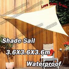 new waterproof garden awning canopy triangular sun shade net 3 6x3