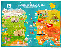 Map Of Essos A Cute Map Of Westeros From Game Of Thrones Fantasy Science