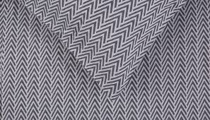 herringbone bed linen navy grey