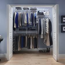 closetmaid 2287300 shelftrack 4 ft to 6 ft wide closet organizer