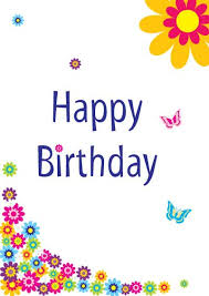 printable birthday cards that you can color free printable happy birthday cards with colorful flower and