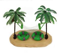 habitat centerpiece palm trees with hammock butterfly art and