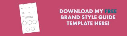 brand style guide template keshia m white