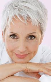 good haircut for older women with square face tousled pixie haircut best hairstyle and haircuts for older