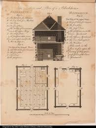 the section and plan of a blockhouse jcb archive of early