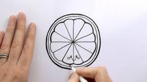 how to draw a cartoon slice of orange youtube