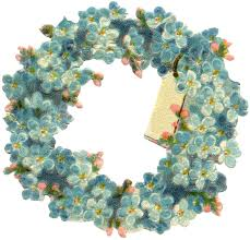 wreath pretty vintage floral wreath image the graphics fairy
