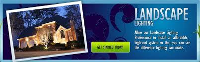 exterior landscape lighting for home or business garner raleigh nc