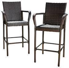 restaurant outdoor bar stools outdoor wicker bar stools elegant gdfstudio stewart set of 2 brown
