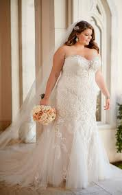 lace wedding gown plus size vintage lace wedding dress stella york