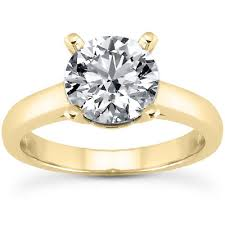 gold 1 carat engagement rings 3 4 carat classic solitaire engagement ring in 14k yellow gold