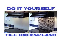 Do It Yourself Backsplash For Kitchen Do It Yourself Tile Backsplash 6 Minutes With Home Depot Materials