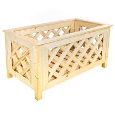 bentley garden wooden planters with lattice design