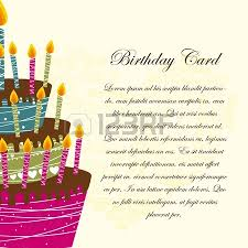 happy birthday card with cake and balloons vector royalty free