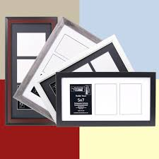 Picture Frames And Mats by 5x7 Multiple 3 Opening Picture Frames With 10x20 Collage Mat