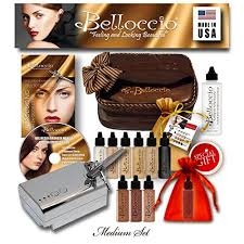 professional airbrush makeup system belloccio professional beauty airbrush cosmetic makeup system with