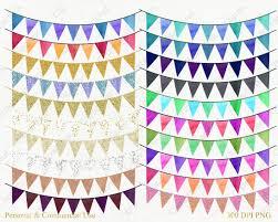 Flag Banner Clip Art Gold Bunting Banner Clipart Rainbow Wat Design Bundles