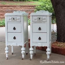 French Country Nightstand - pair of white nightstands custom order we find refinish and