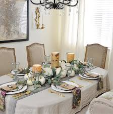 a simple beautiful way to decorate your dining table for fall 2 it is very soft and looks as if i have washed it a hundred times i don t mind the soft wrinkles of the fabric in fact it adds to my relaxed look