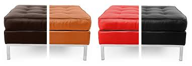 Red Ottoman Florence Knoll Style Ottoman Footstool