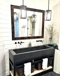 Trough Sink Bathroom Vanity Trough Sinks For Bathrooms Double Sink Bathroom Vanity With Two