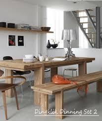 Teak Indoor Dining Table Cangkuang Dining Rooms Set