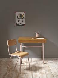 Schreibtisch Lang Und Schmal Cyrillus Schreibtisch Holz Und Metall In Rosa Natur