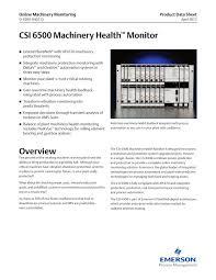 Machine Downtime Spreadsheet Csi 6500 Machinery Health Monitor Csi Technologies Pdf