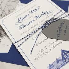 custom illustration flat card wedding invitation