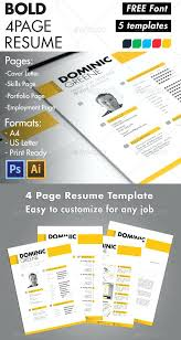 Bold Resume Template by Beautiful Resume Templates Free Bold Resume Template Resume Design
