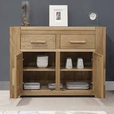 Pemberton Solid Oak Living Room Furniture Medium Storage Sideboard - Oak living room sets