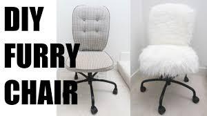 fur chair cover diy fur chair more serein