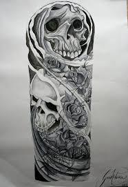skull sleeve sketches amazing
