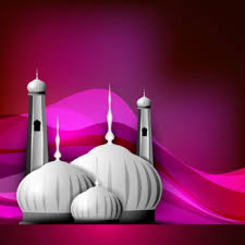 Eid Card Design Vector Beautiful 3d Mosque On Pink Abstract Background Ramdan And